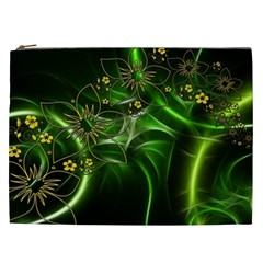 Flora Entwine Fractals Flowers Cosmetic Bag (xxl)