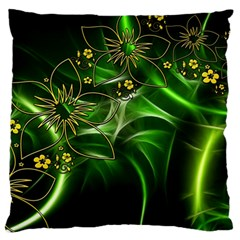 Flora Entwine Fractals Flowers Standard Flano Cushion Case (one Side)