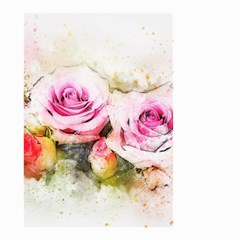 Flower Roses Art Abstract Small Garden Flag (two Sides)
