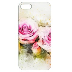 Flower Roses Art Abstract Apple Iphone 5 Hardshell Case With Stand