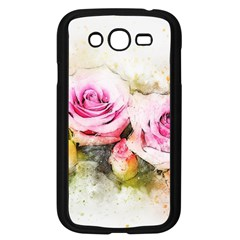 Flower Roses Art Abstract Samsung Galaxy Grand Duos I9082 Case (black)
