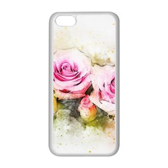 Flower Roses Art Abstract Apple Iphone 5c Seamless Case (white)