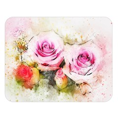 Flower Roses Art Abstract Double Sided Flano Blanket (large)