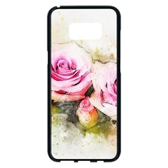 Flower Roses Art Abstract Samsung Galaxy S8 Plus Black Seamless Case