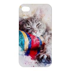 Cat Kitty Animal Art Abstract Apple Iphone 4/4s Hardshell Case