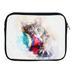 Cat Kitty Animal Art Abstract Apple Ipad 2/3/4 Zipper Cases