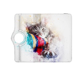 Cat Kitty Animal Art Abstract Kindle Fire Hdx 8 9  Flip 360 Case