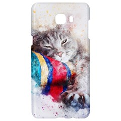 Cat Kitty Animal Art Abstract Samsung C9 Pro Hardshell Case