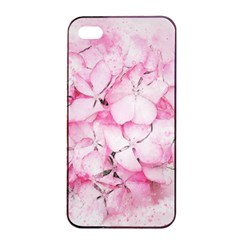 Flower Pink Art Abstract Nature Apple Iphone 4/4s Seamless Case (black)