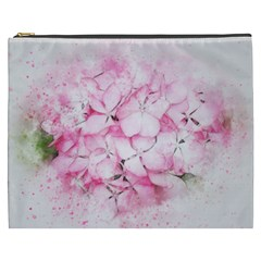 Flower Pink Art Abstract Nature Cosmetic Bag (xxxl)