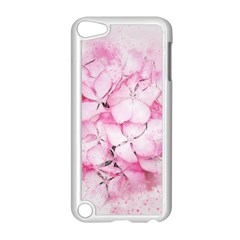 Flower Pink Art Abstract Nature Apple Ipod Touch 5 Case (white)