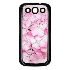 Flower Pink Art Abstract Nature Samsung Galaxy S3 Back Case (black)