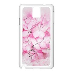 Flower Pink Art Abstract Nature Samsung Galaxy Note 3 N9005 Case (white)