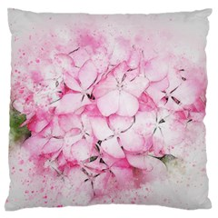 Flower Pink Art Abstract Nature Large Flano Cushion Case (one Side)