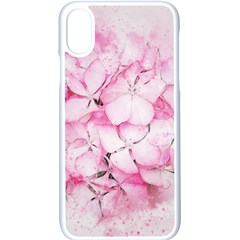 Flower Pink Art Abstract Nature Apple Iphone X Seamless Case (white)