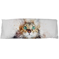 Cat Animal Art Abstract Watercolor Body Pillow Case (dakimakura)