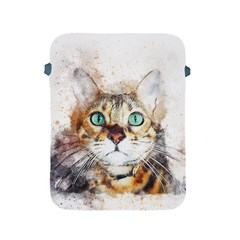Cat Animal Art Abstract Watercolor Apple Ipad 2/3/4 Protective Soft Cases