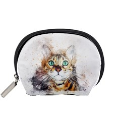 Cat Animal Art Abstract Watercolor Accessory Pouches (small)