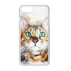Cat Animal Art Abstract Watercolor Apple Iphone 8 Plus Seamless Case (white)