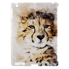 Leopard Animal Art Abstract Apple Ipad 3/4 Hardshell Case (compatible With Smart Cover)