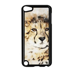 Leopard Animal Art Abstract Apple Ipod Touch 5 Case (black)