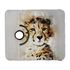 Leopard Animal Art Abstract Galaxy S3 (flip/folio)