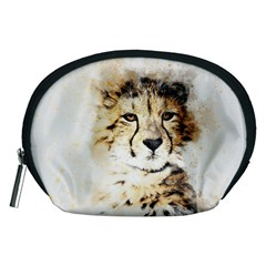 Leopard Animal Art Abstract Accessory Pouches (medium)