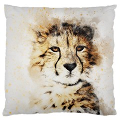 Leopard Animal Art Abstract Standard Flano Cushion Case (two Sides)
