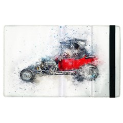Car Old Car Art Abstract Apple Ipad 2 Flip Case