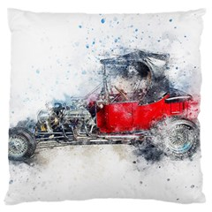 Car Old Car Art Abstract Standard Flano Cushion Case (one Side)