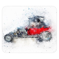 Car Old Car Art Abstract Double Sided Flano Blanket (small)