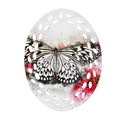 Butterfly Animal Insect Art Ornament (oval Filigree)