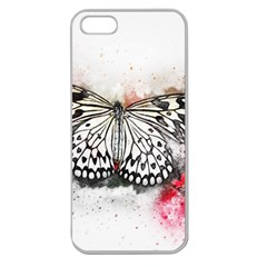 Butterfly Animal Insect Art Apple Seamless Iphone 5 Case (clear)