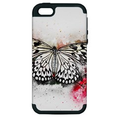 Butterfly Animal Insect Art Apple Iphone 5 Hardshell Case (pc+silicone)