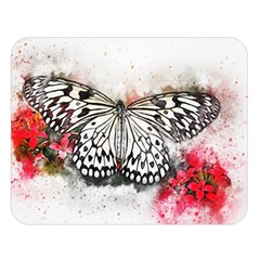 Butterfly Animal Insect Art Double Sided Flano Blanket (large)