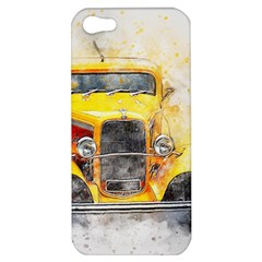 Car Old Art Abstract Apple Iphone 5 Hardshell Case