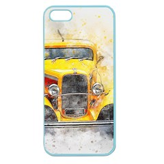 Car Old Art Abstract Apple Seamless Iphone 5 Case (color)