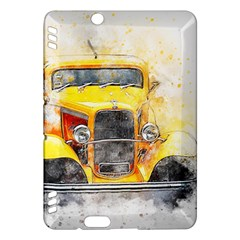Car Old Art Abstract Kindle Fire Hdx Hardshell Case