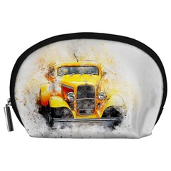 Car Old Art Abstract Accessory Pouches (large)