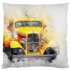 Car Old Art Abstract Standard Flano Cushion Case (one Side)