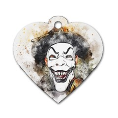 Mask Party Art Abstract Watercolor Dog Tag Heart (one Side)