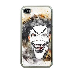 Mask Party Art Abstract Watercolor Apple Iphone 4 Case (clear)