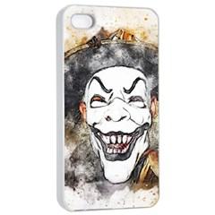 Mask Party Art Abstract Watercolor Apple Iphone 4/4s Seamless Case (white)