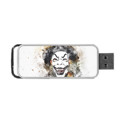 Mask Party Art Abstract Watercolor Portable Usb Flash (one Side)