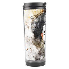 Mask Party Art Abstract Watercolor Travel Tumbler