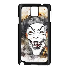 Mask Party Art Abstract Watercolor Samsung Galaxy Note 3 N9005 Case (black)