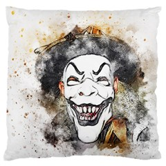 Mask Party Art Abstract Watercolor Large Flano Cushion Case (one Side)