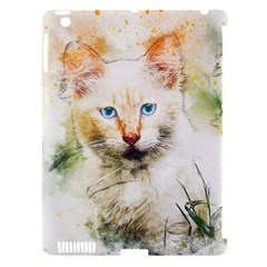 Cat Animal Art Abstract Watercolor Apple Ipad 3/4 Hardshell Case (compatible With Smart Cover)
