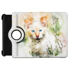 Cat Animal Art Abstract Watercolor Kindle Fire Hd 7