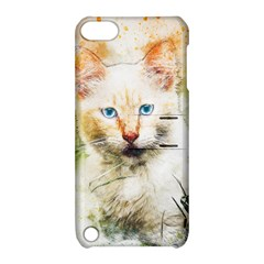 Cat Animal Art Abstract Watercolor Apple Ipod Touch 5 Hardshell Case With Stand